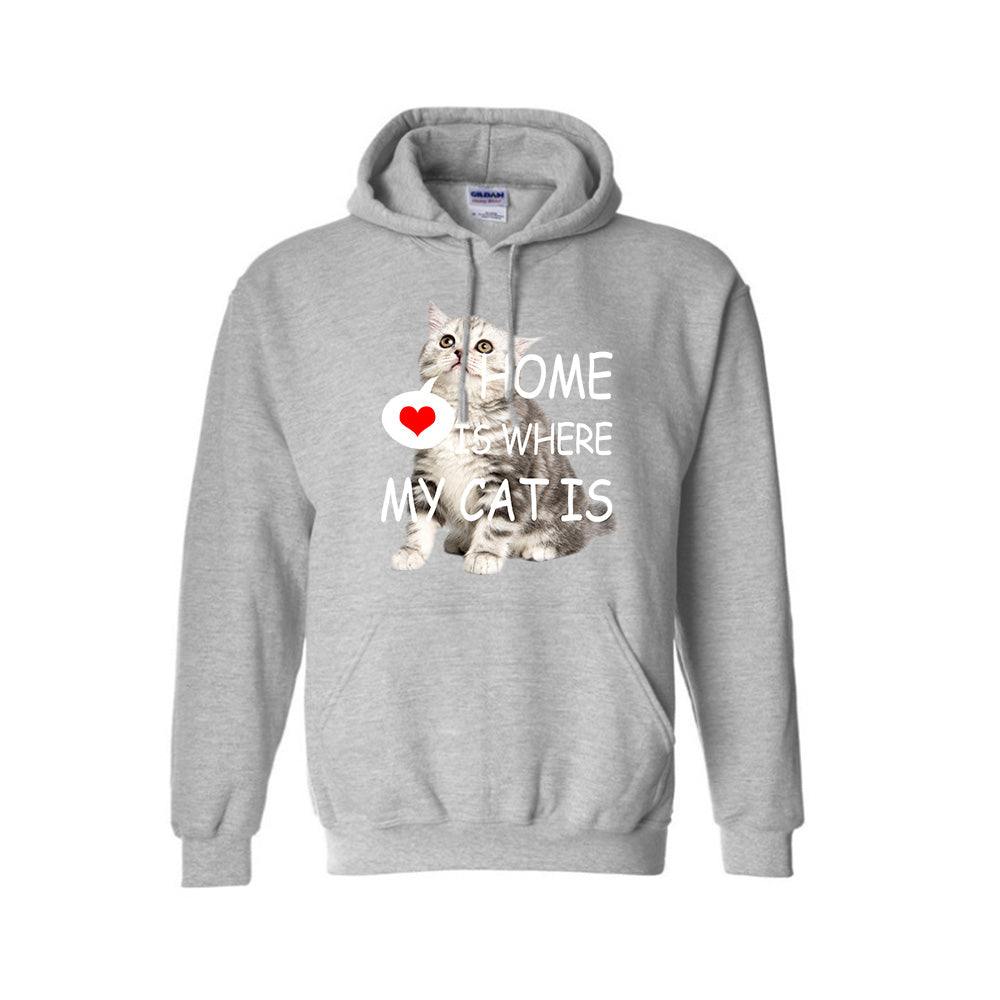 HOME IS WHERE MY CAT IS-Unisex Hoodie