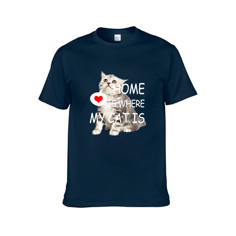 HOME IS WHERE MY CAT IS-Unisex Tee
