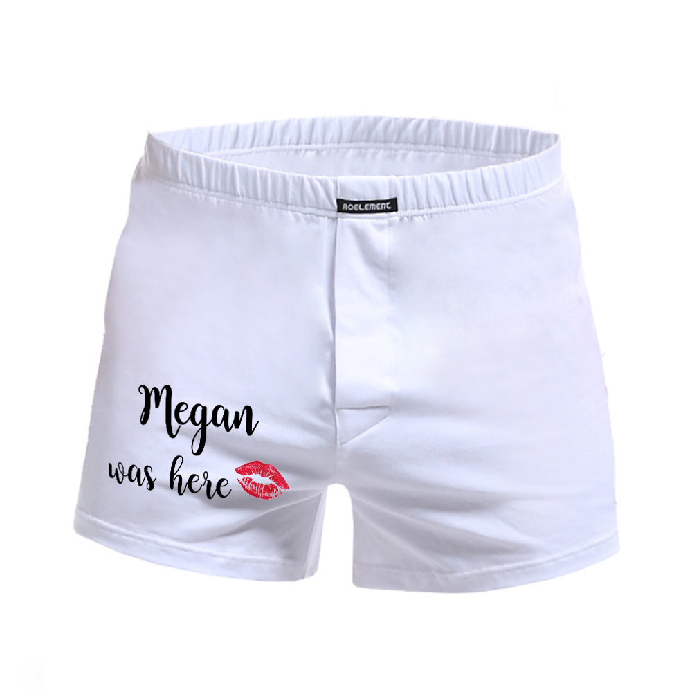 Name+Was Here — Personalized Men Boxers
