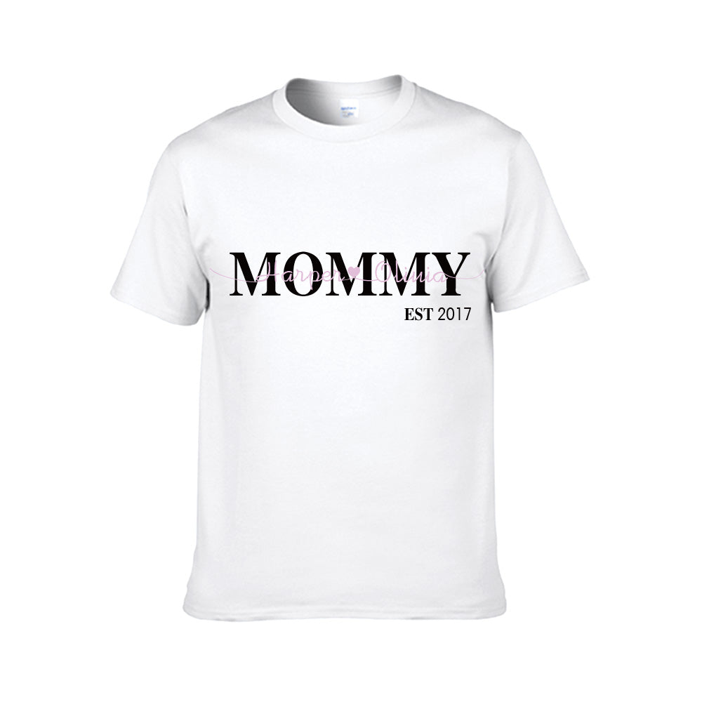 Family Personalized Nickname Kids Names Est Year T-shirt - Unisex Tee