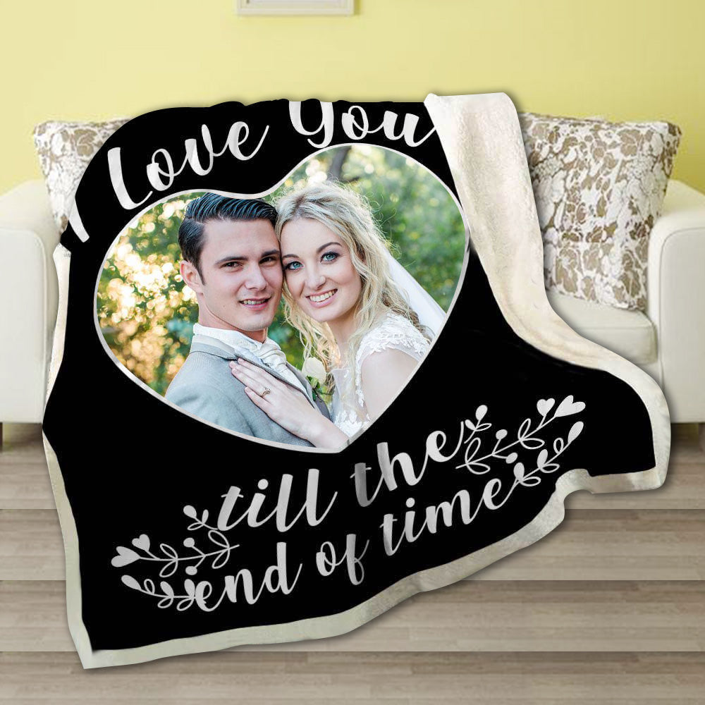 Personalized I Love You Till The End Of Time Photo Fleece Blanket