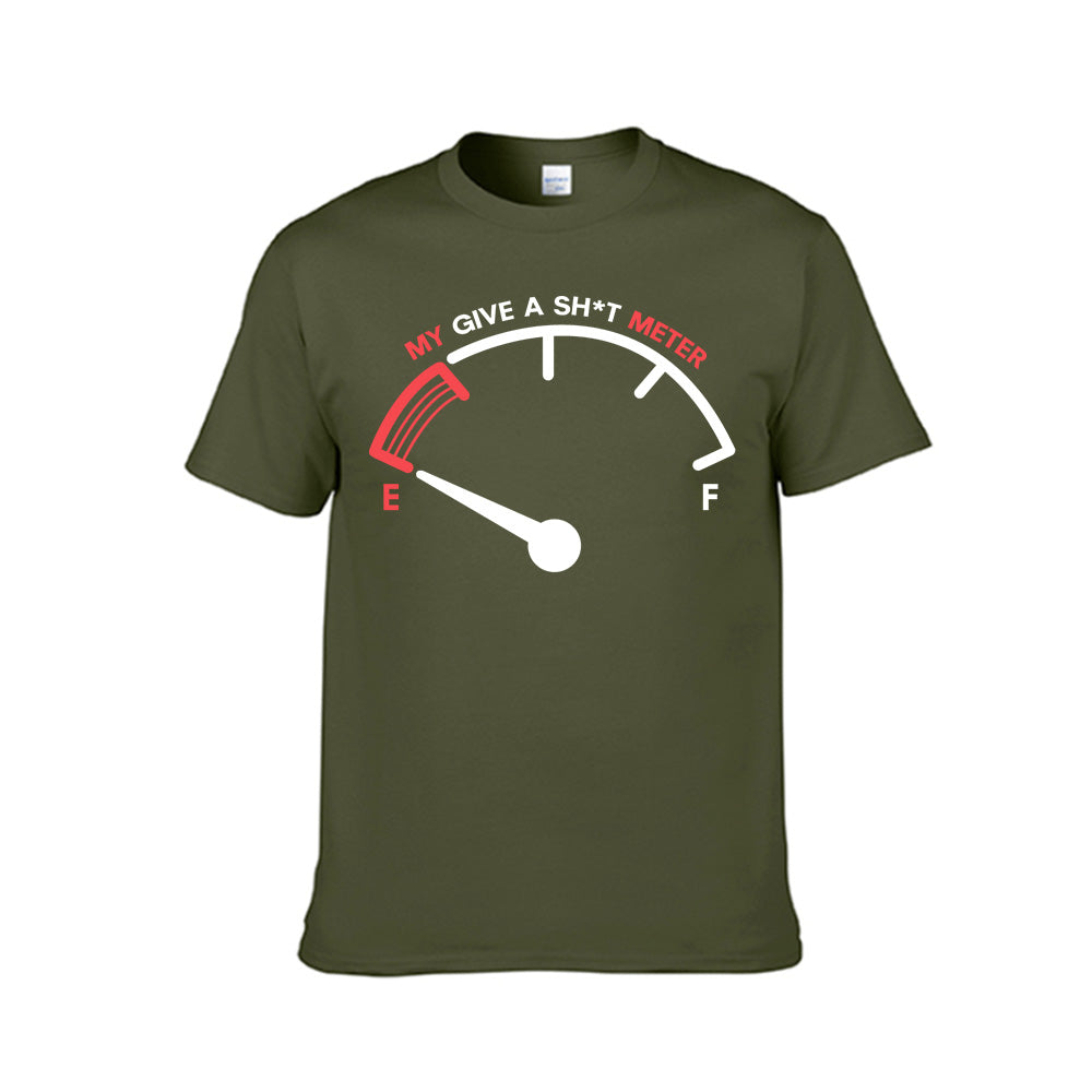 My Give a Sh*t Meter--Unisex Funny Tee