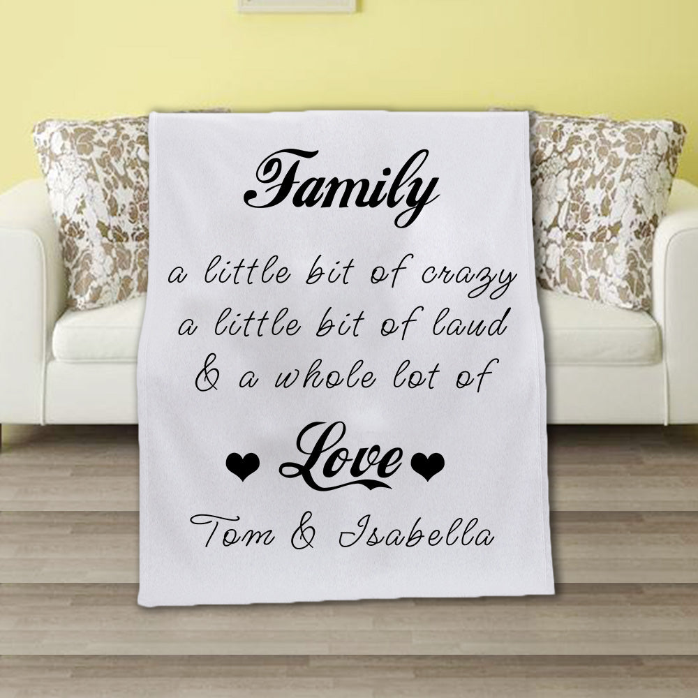 Personalized Family Fleece Blanket