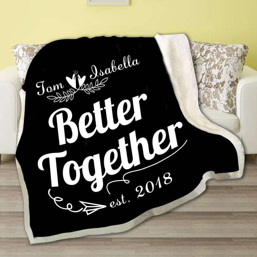 Pesonalized Better Together Fleece Blanket