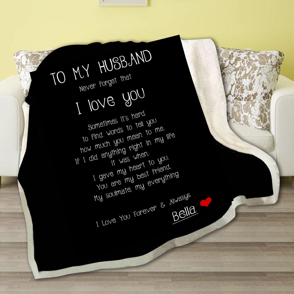 Personalized I love you forever & always Fleece Blanket