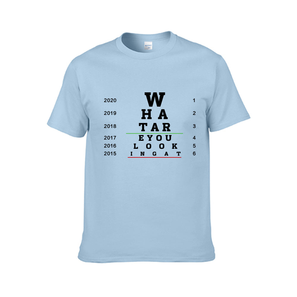 What Are You Looking At Visual Chart--Funny Unisex Tee