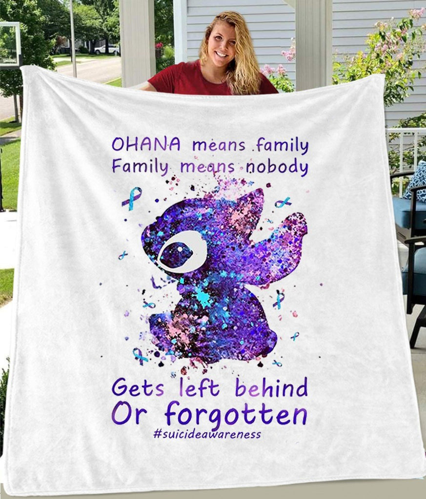 Ohana Means Family Cozy Plush Fleece Blankets