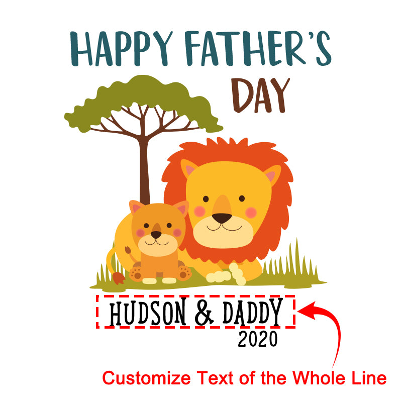 Personalized Lion Father's Day Fleece Blankets