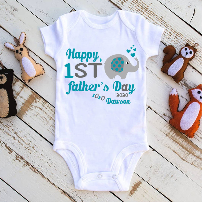 Custom Elephant Father's Day Fleece Blankets / Baby Onesies / Daddy Shirts