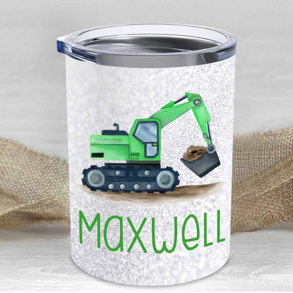 Custom Name Truck Children's Travel Drink Tumbler 10oz II