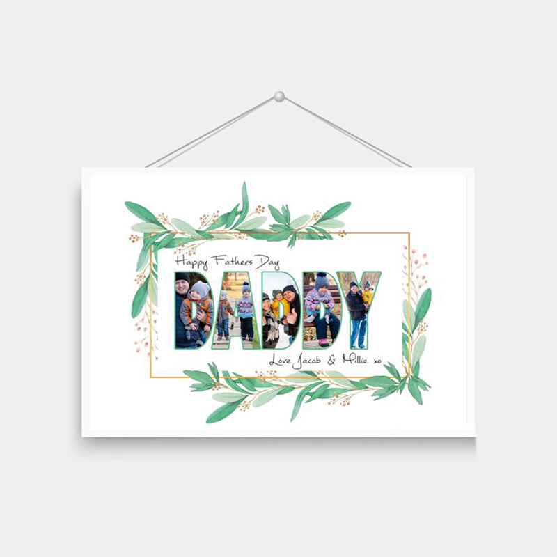 Custom Father's Day Photo Print-Daddy Collage Wall Art