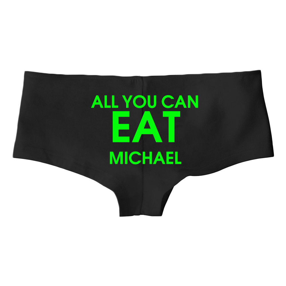 All You Can Eat Custom Ladies Hotshort Underwear