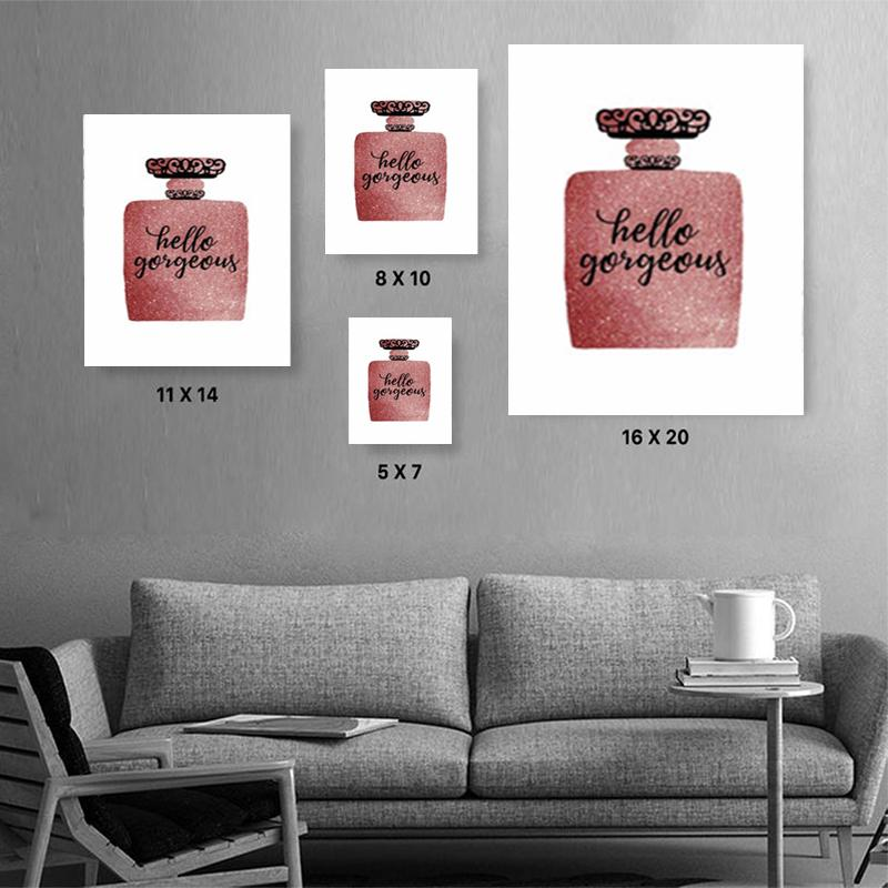LASH OUT HELLO GORGEOUS Canvas Art Set, Family Canvas Art Set