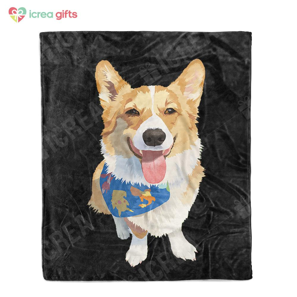 Custom Oil-Painting Fleece Blanket