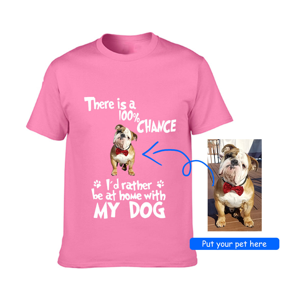 7a9b28a00aa7 Personalized Tee with Your Pet's Photo-Unisex