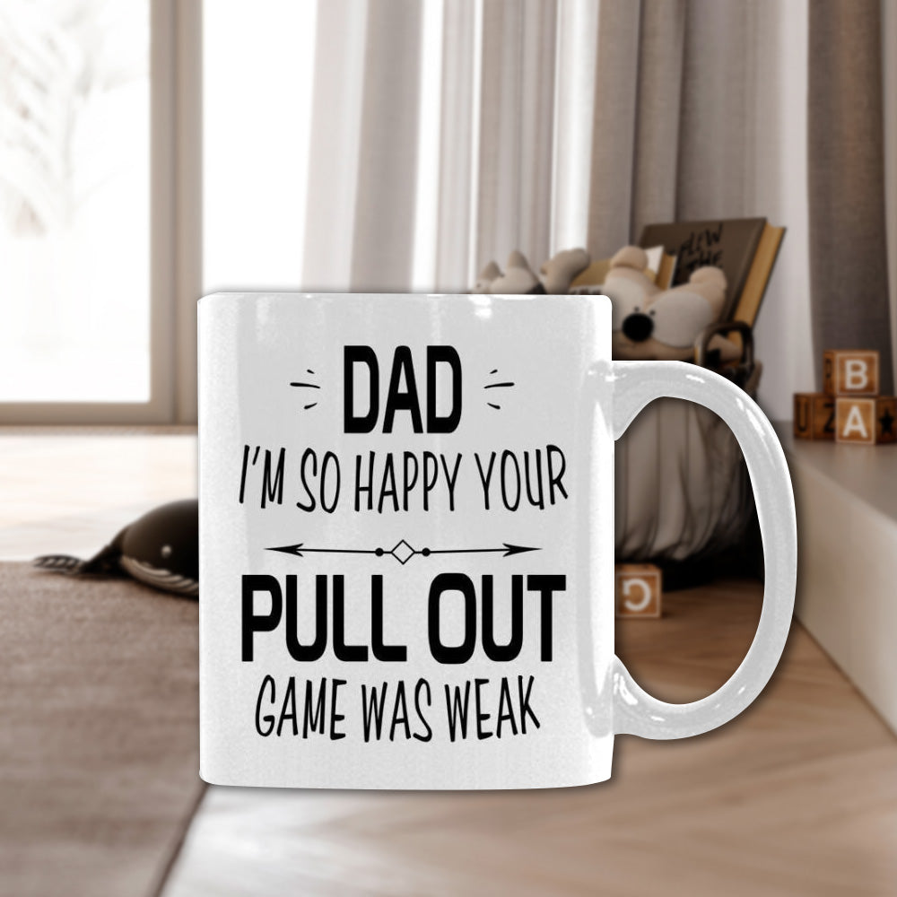 Personalized Dad I'm So Happy Mug