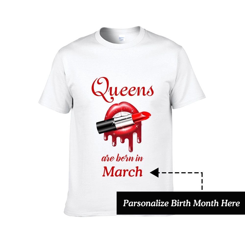 Personalized Tee with Month of Birth