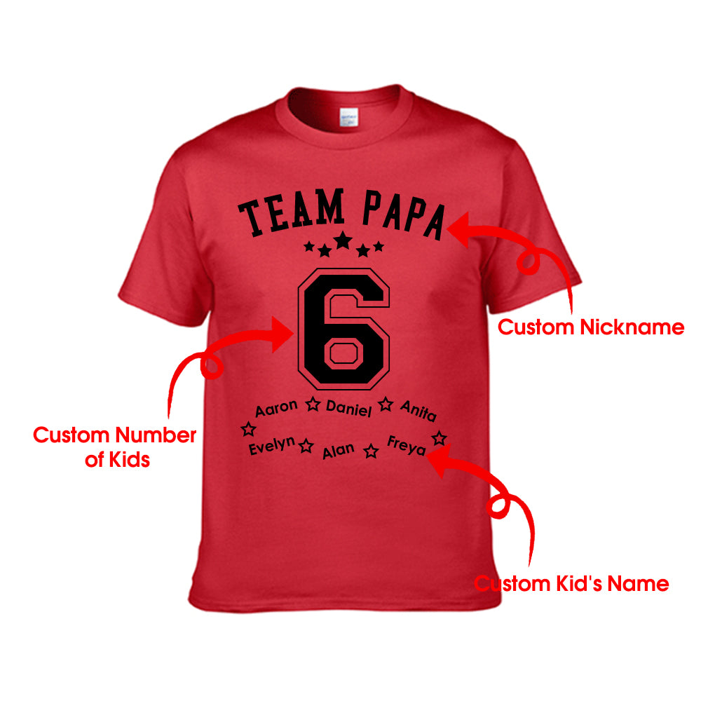 Personalized Team Dad Unisex Tee