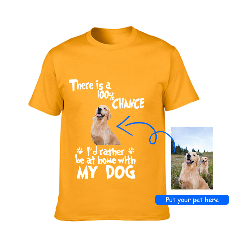 Personalized Tee with Your Pet's Photo-Unisex