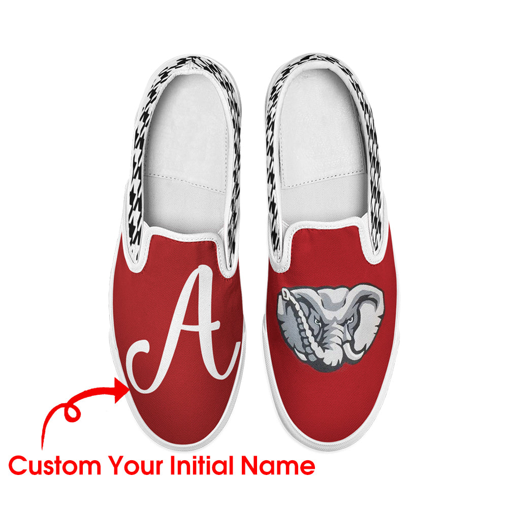 Personalize Unisex Initial Name Slip-On Shoes / Canvas Shoes