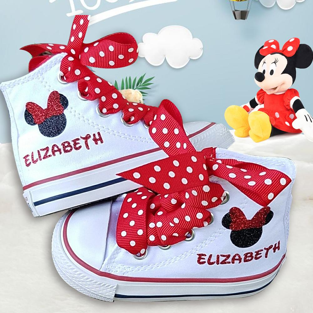 Custom Sparkle Name Canvas Shoes for Kids / Personalized High Tops Sneakers