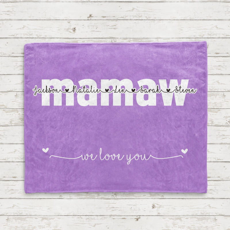 Personalized Fleece Blanket with Your Nick & Kids' Names - BUY 2 SAVE 10%