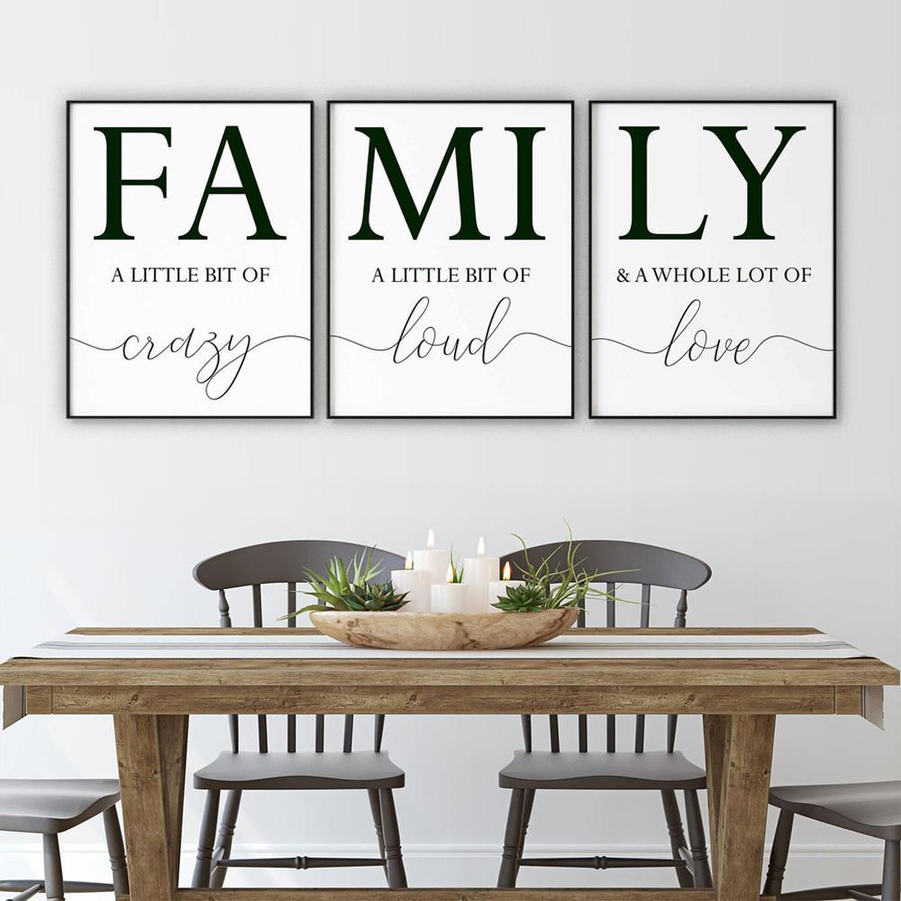 FAMILY Canvas Art Set I