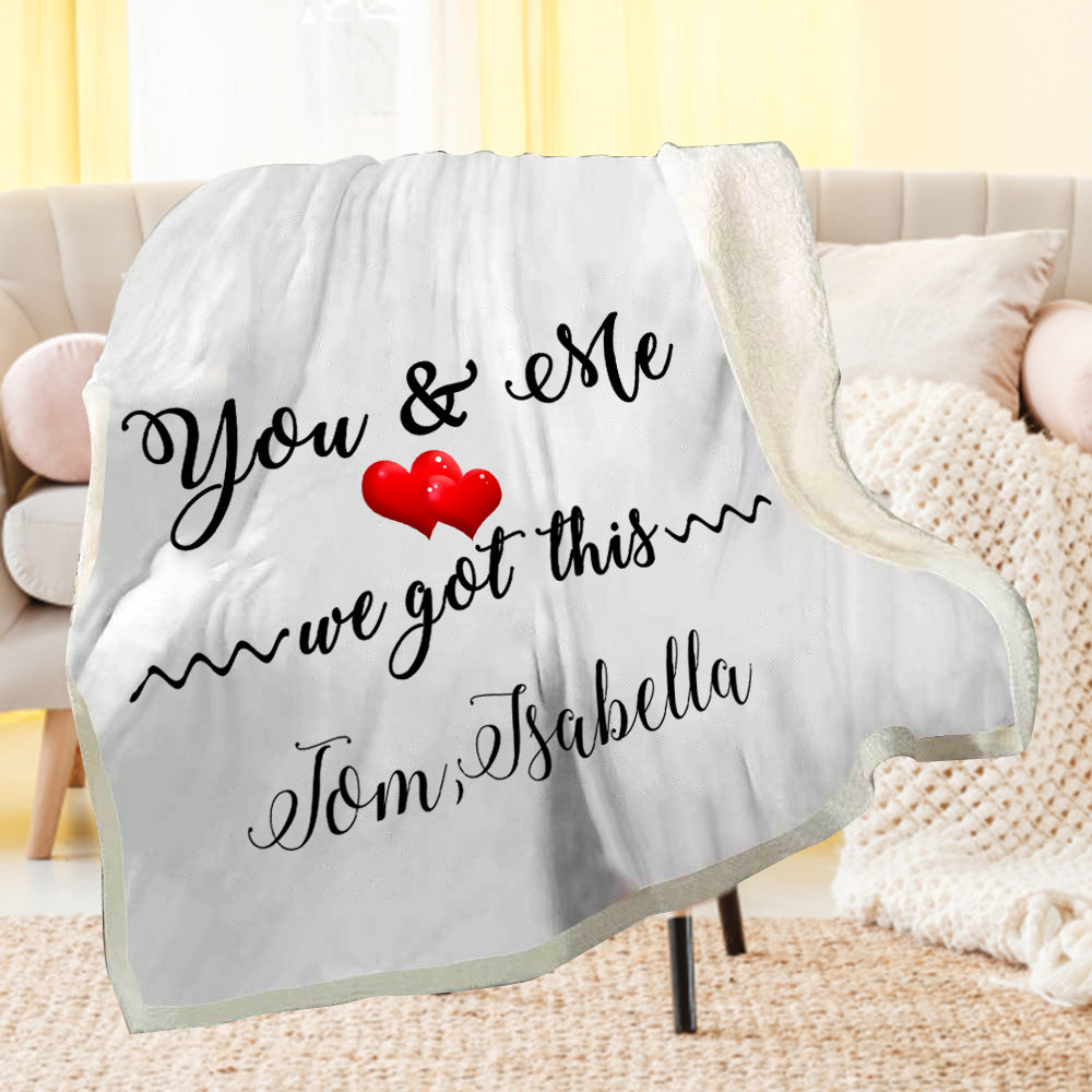 Personalized You & Me Fleece Blanket