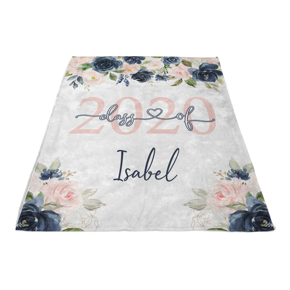 Personalized Graduation Blanket With Name, Class Of 2020 Gift