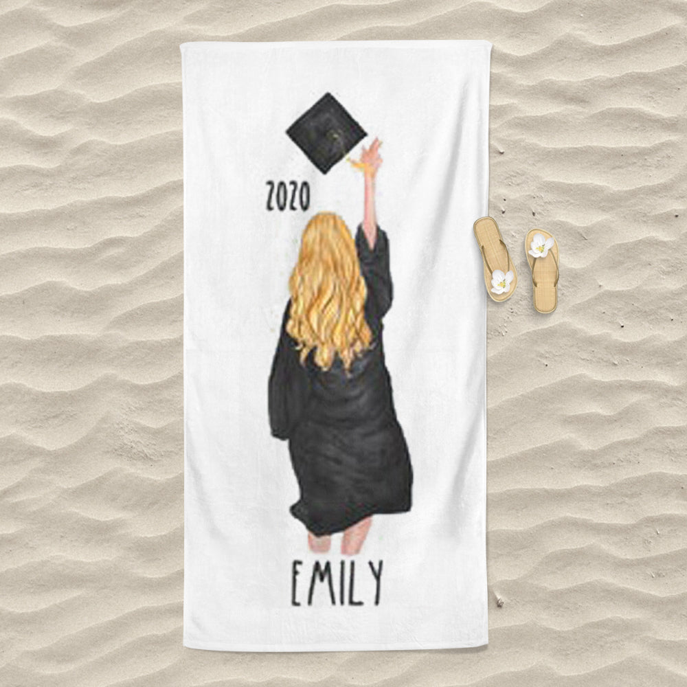 Personalized Graduation Beach Towel for Class Of 2020 I