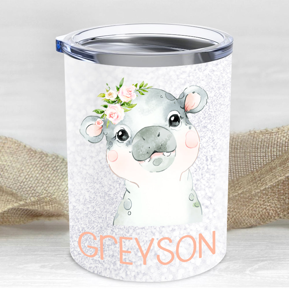 Custom Name Animal Children's Travel Drink Tumbler 10oz Ⅷ