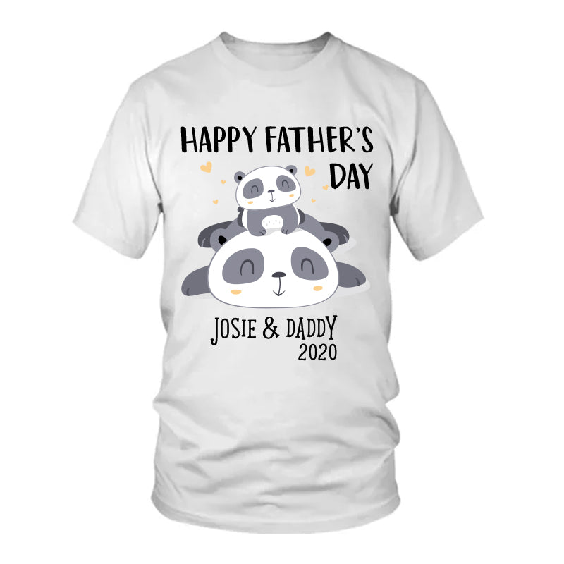 Custom Panda Father's Day Fleece Blankets / Baby Onesies / Dad Shirts