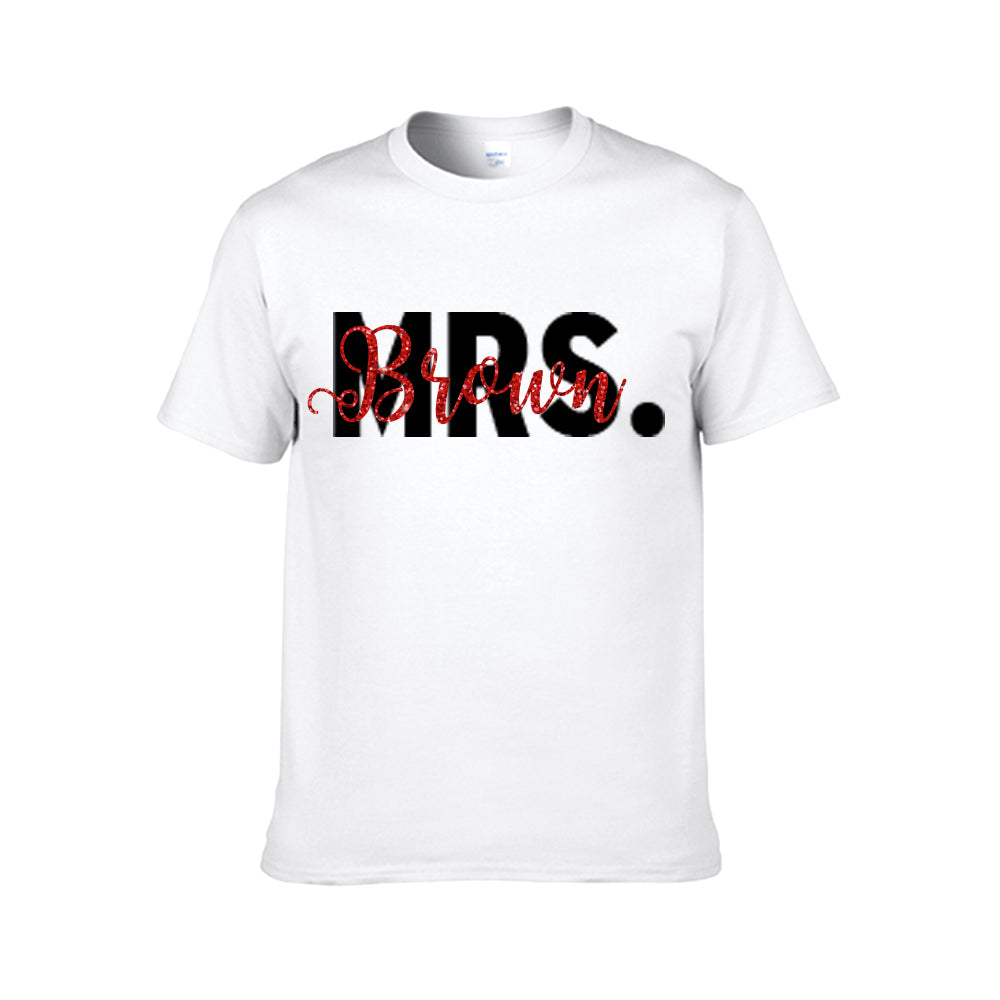 Personalized Mr. / Mrs. T-shirt - Unisex Tee
