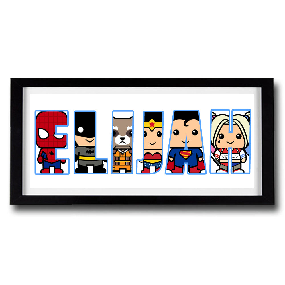 Custom HERO SQUAD Personalised Name Print