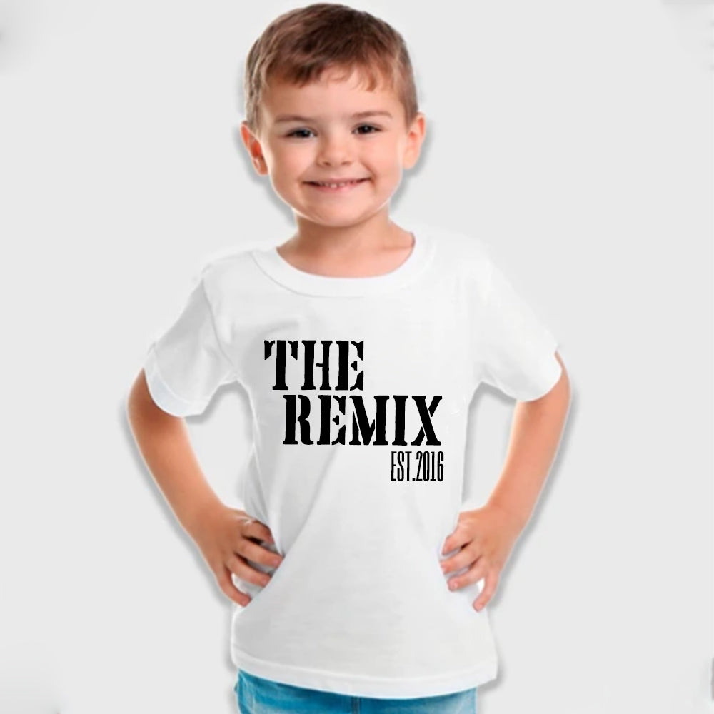 'THE REMIX' Custom Est Year Kids Tee