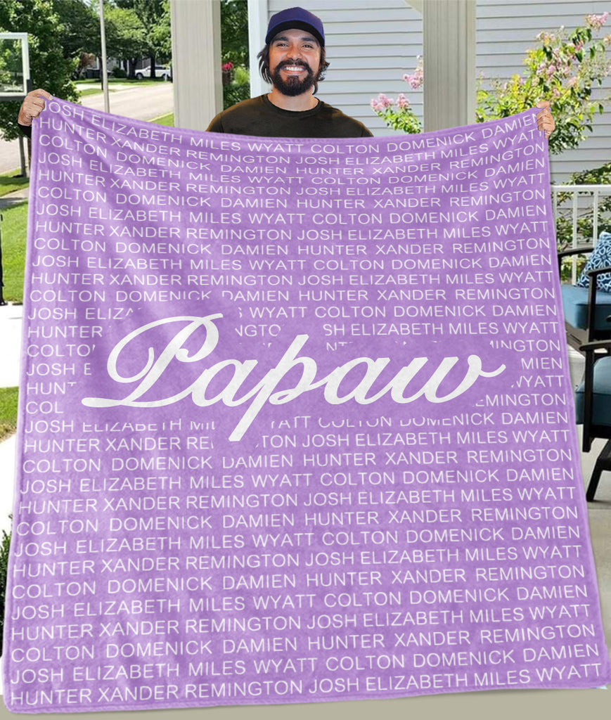 Custom Fleece Blanket with Nickname & Kids Names - BUY 2 SAVE 10%