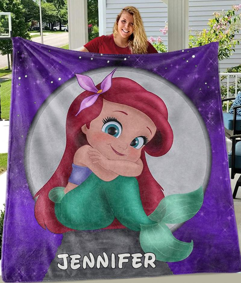 Custom MERMAID Name Blankets II