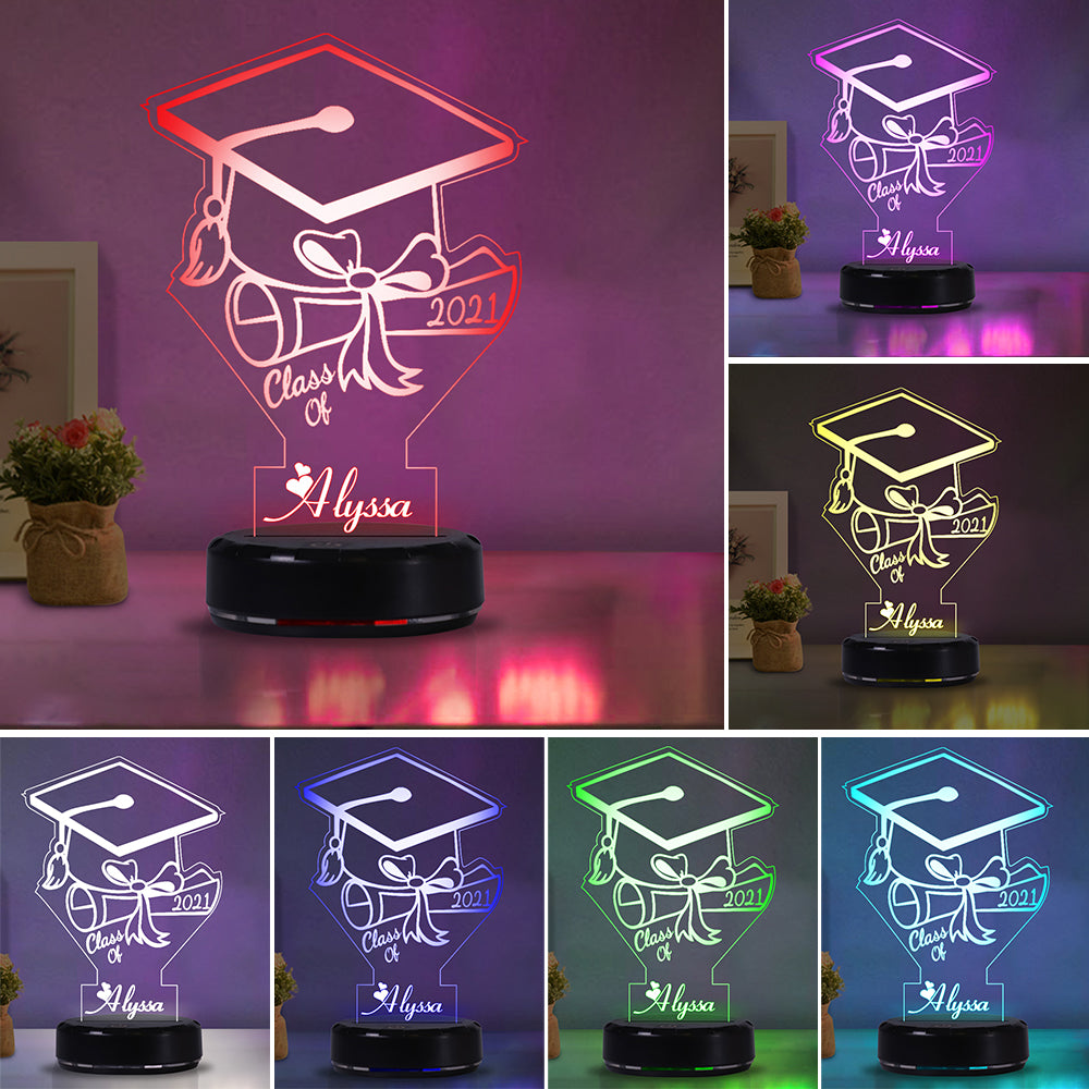 Custom Name Graduation Night Lights