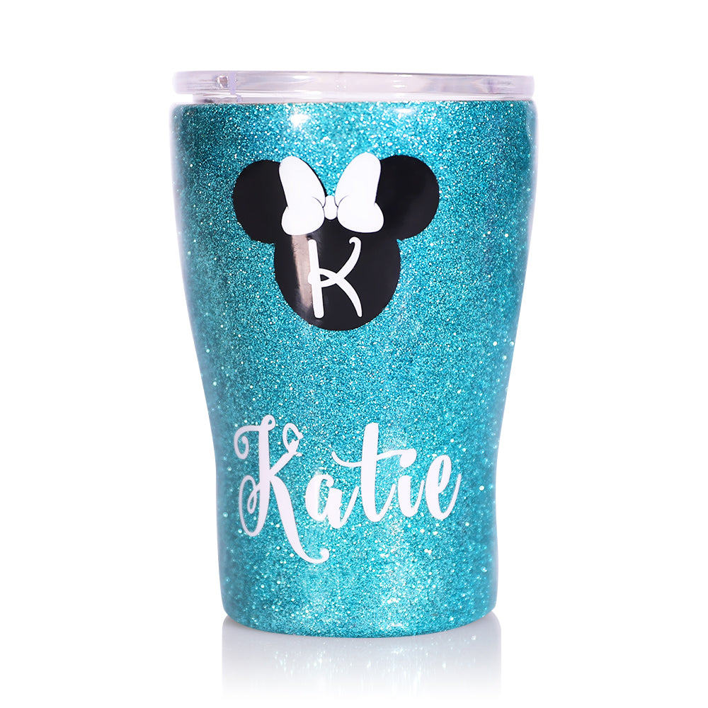 Personalized glitter bow Cup