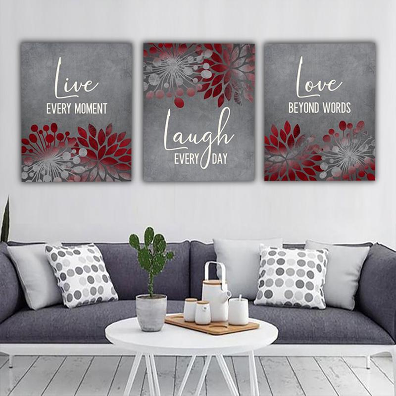 Live Laugh Love Sign Canvas Wall Art Set II