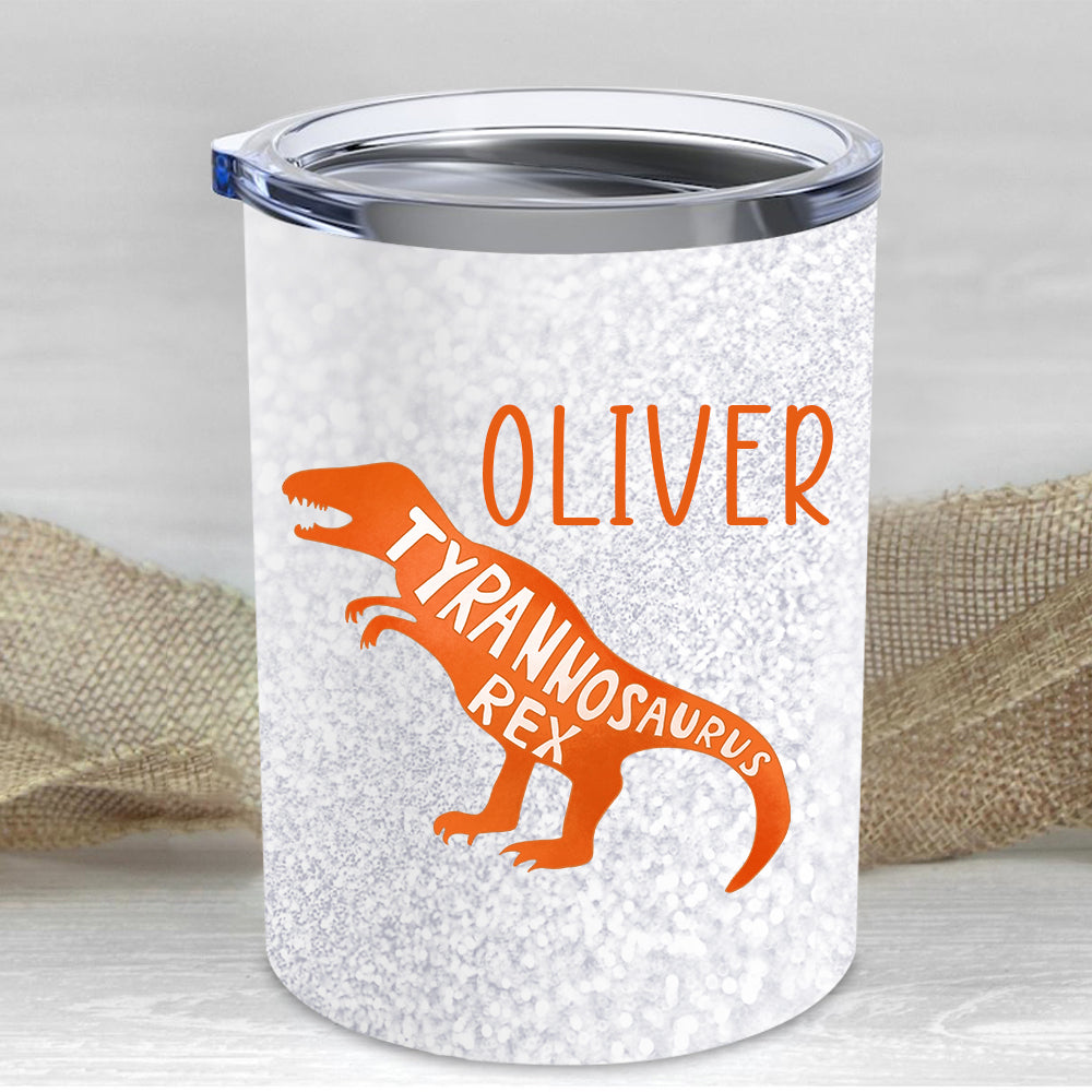 Custom Name Dinosaur Children's Travel Drink Tumbler 10oz II