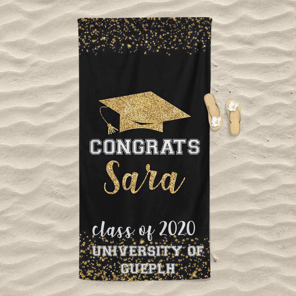 Personalized Graduation Beach Towel for Class Of 2020 III