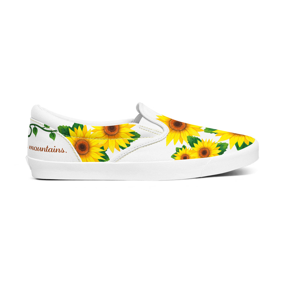 Personalize Unisex Sunflower Slip-On Shoes / Canvas Shoes