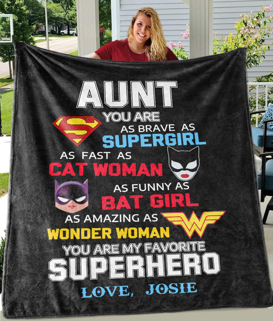 Custom Fleece Blankets with Nickname & Kids' Names Ⅵ - Perfect Birthday Holiday Gifts for MOM AUNT & GRANDMA