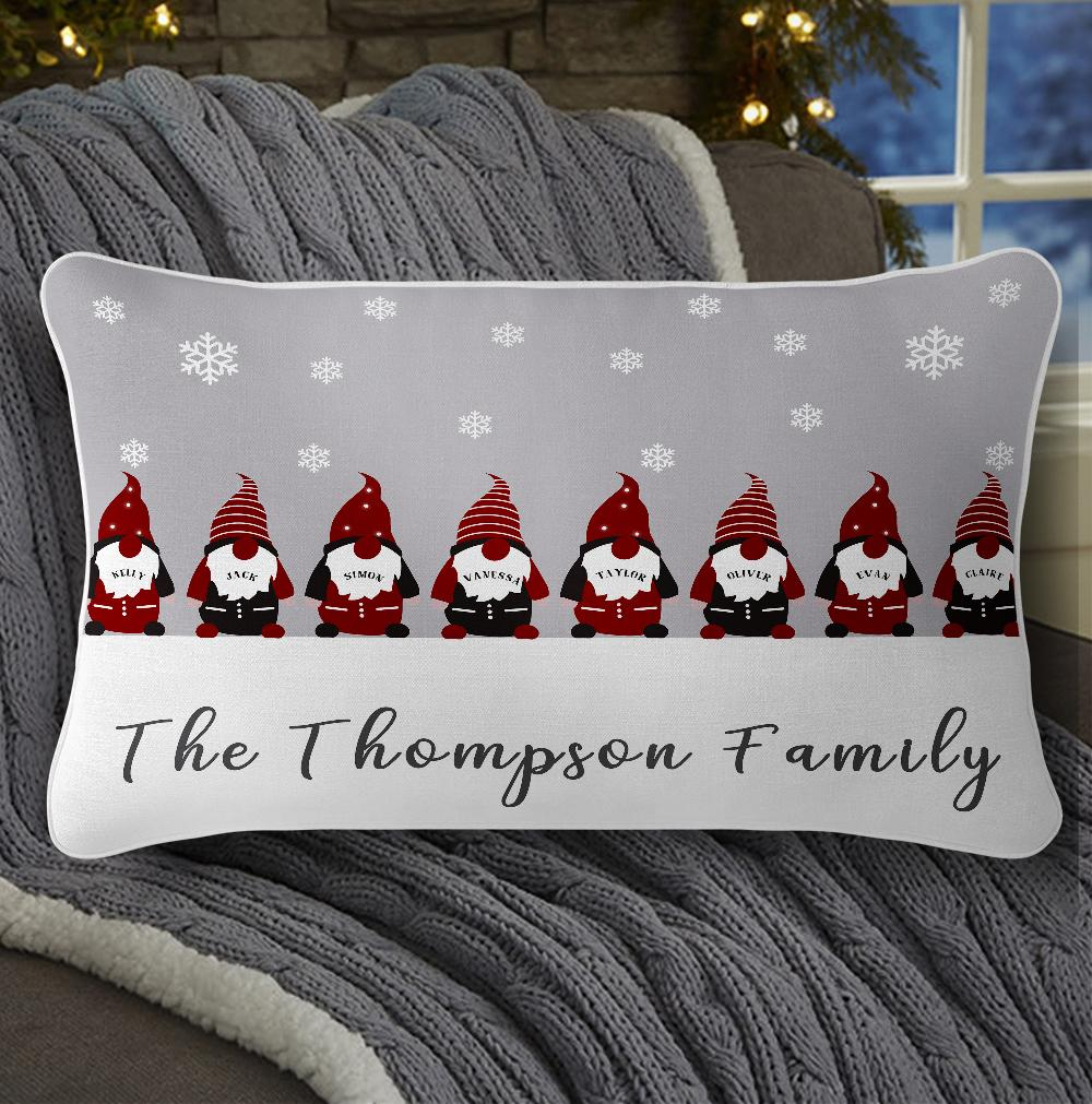 Personalized Christmas Gnomes Family Pillowcase With Name I