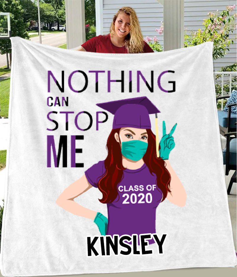 Custom Graduation Blankets 2020 - 3 Skin Colors & 18 Hairstyles Available!