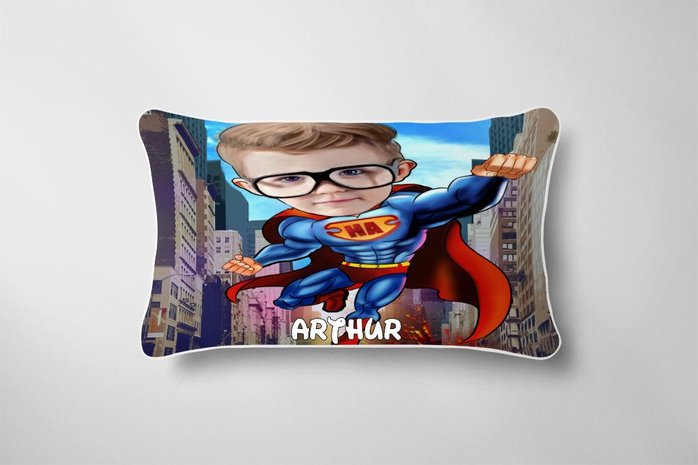 Personalized Hand-Drawing Kid's Photo Portrait Cozy Microfiber Bedding Set V