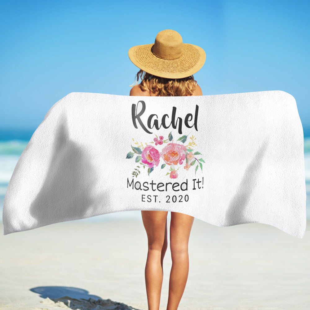 Personalized Graduation Beach Towel for Class Of 2020 VII