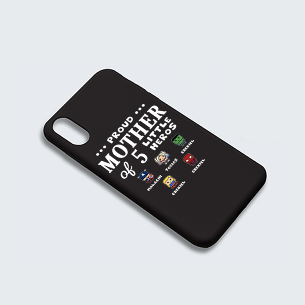 A Custom Proud Of Dad / Mom / Grandma / Grandpa / Uncle / Little Hero IPhone Case