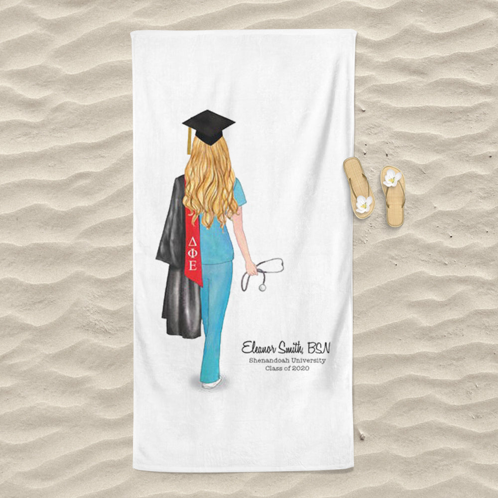 Personalized Graduation Beach Towel for Class Of 2020 V